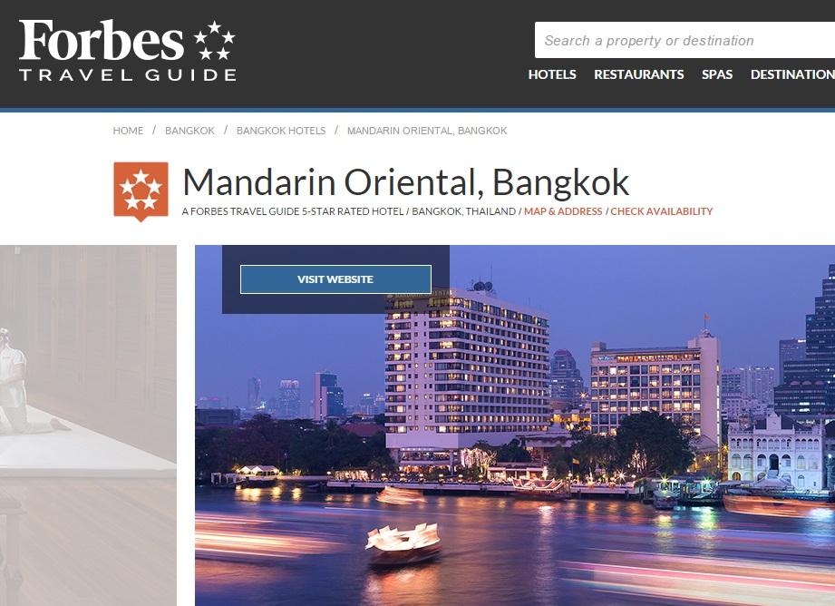Forbes Mandarin Oriental Bangkok