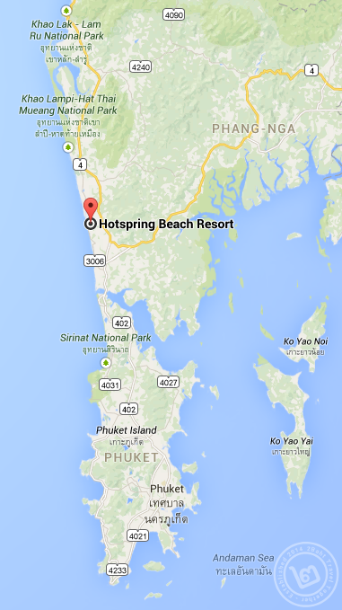 The Hotspring Beach Map