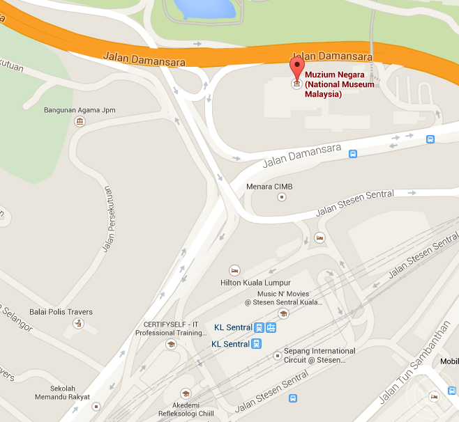 Museum Negara Map