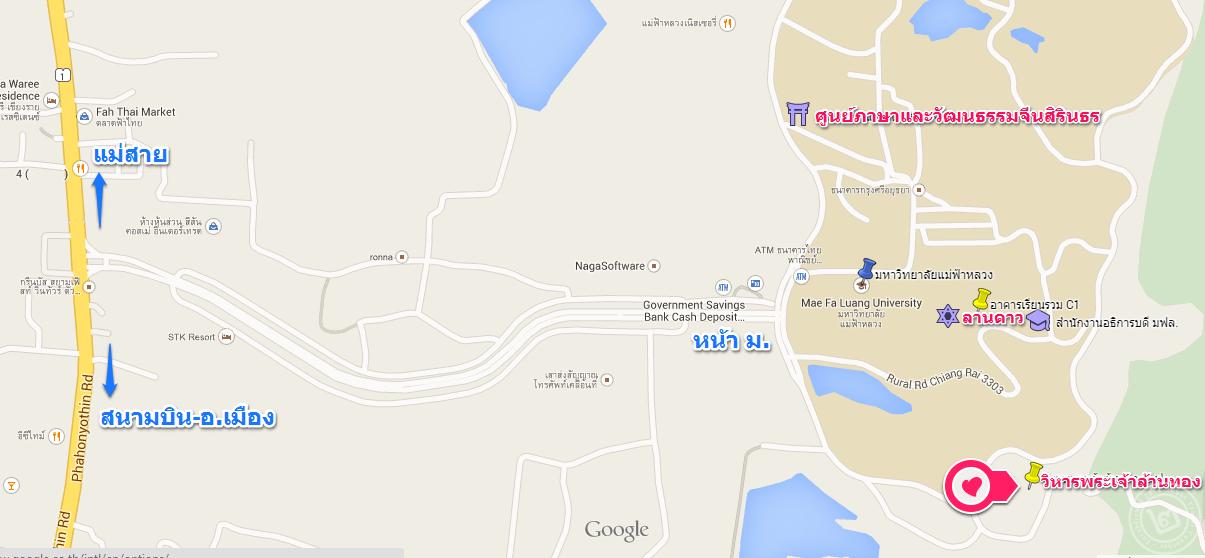 map วิหารพระเจ้าล้านทอง