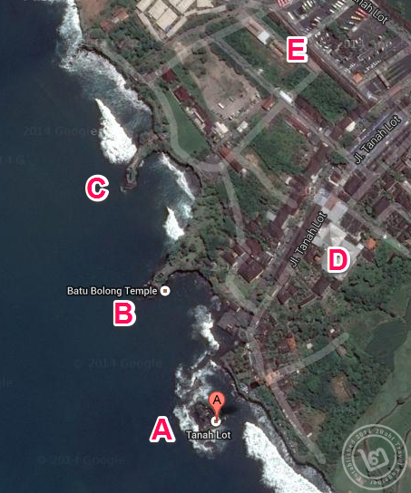Tanah Lot Map