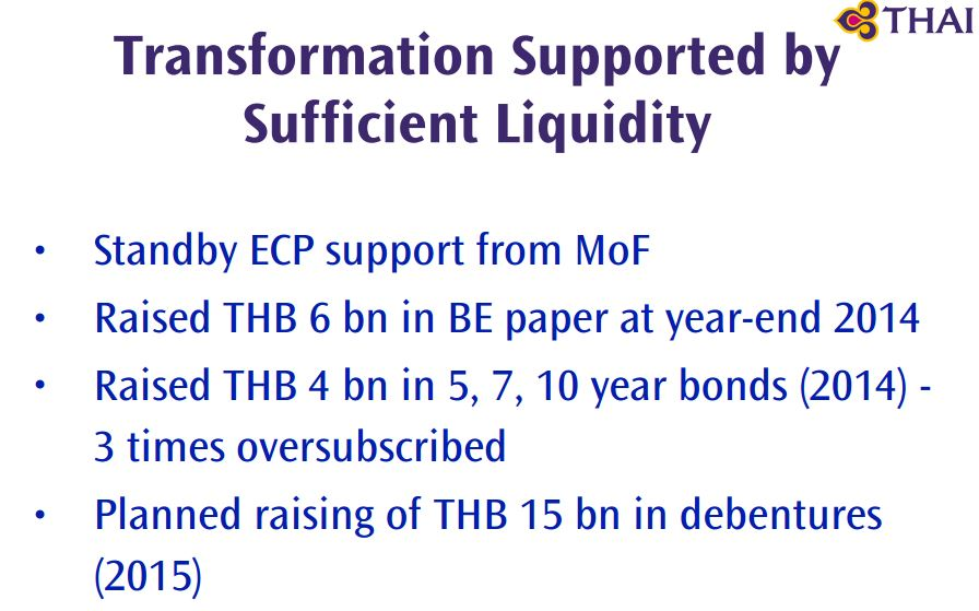 Thai Airways Liquidity
