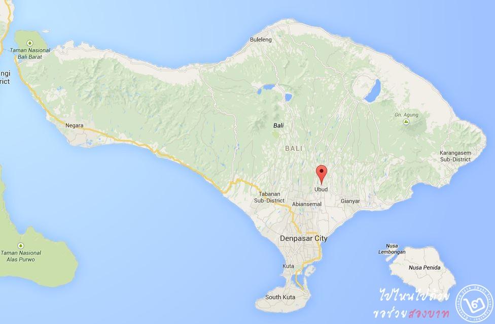 Ubud Map Bali