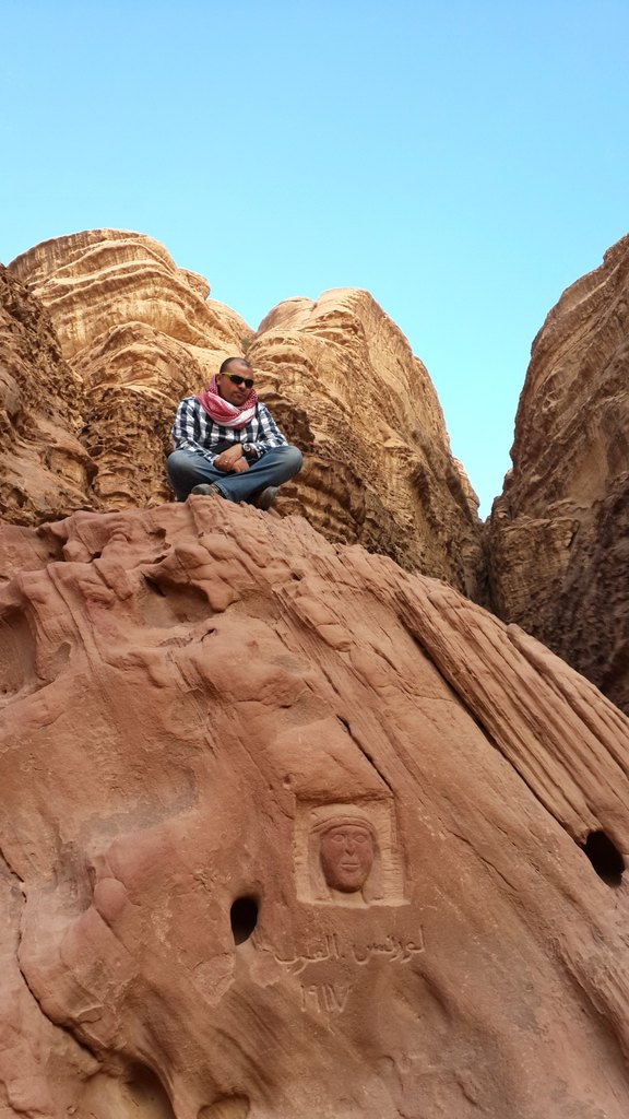 Wadi Rum T.E. Lawrence Face