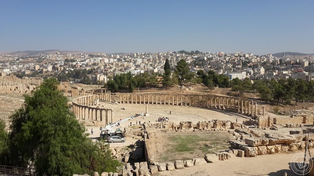 ภาพมุมสูงของเมืองเก่า Jerash