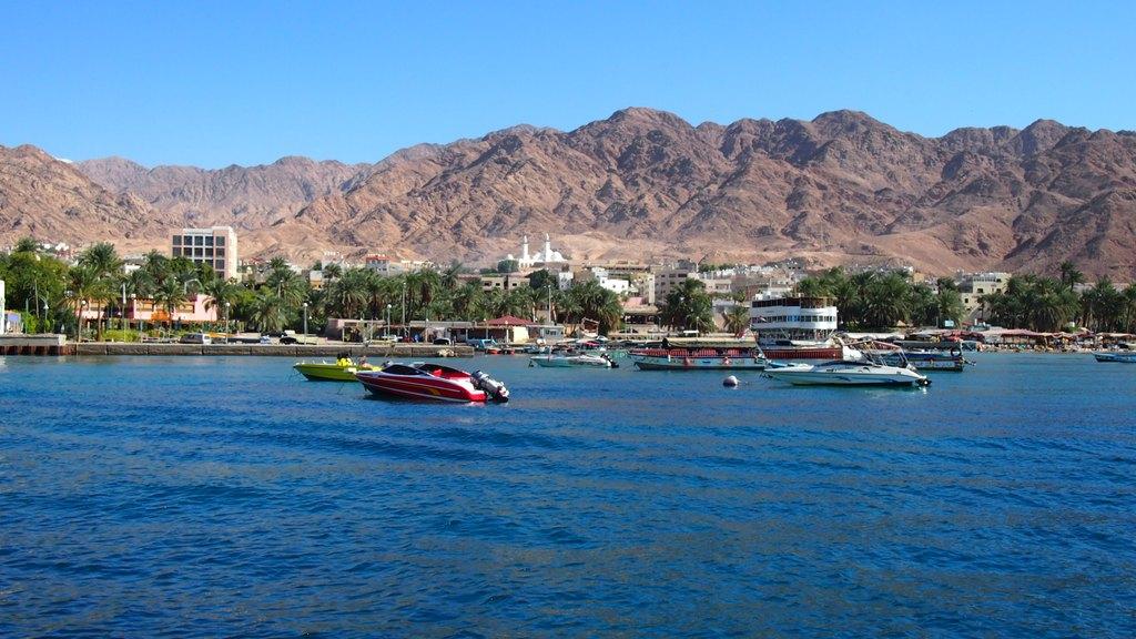 เมือง Aqaba มองจากบนเรือ