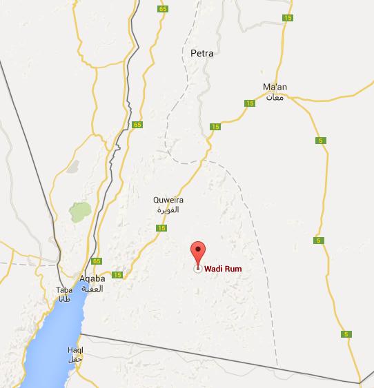 แผนที่ทะเลทราย Wadi Rum