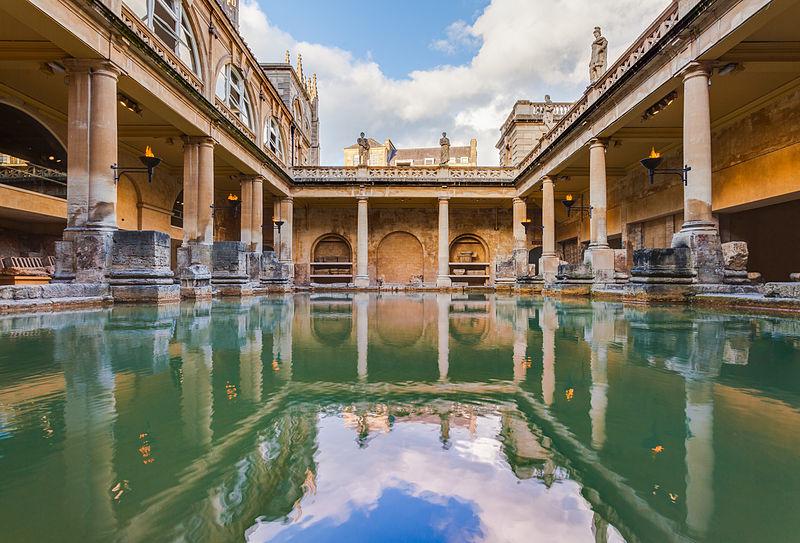 โรงอาบน้ำของชาวโรมันที่เมืองบาธ - ภาพจาก Wikipedia