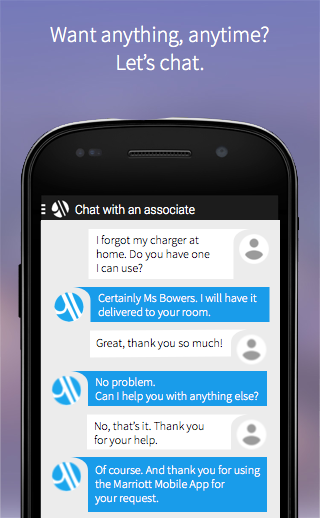 Marriott Chat App