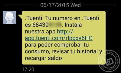 Tuenti SMS