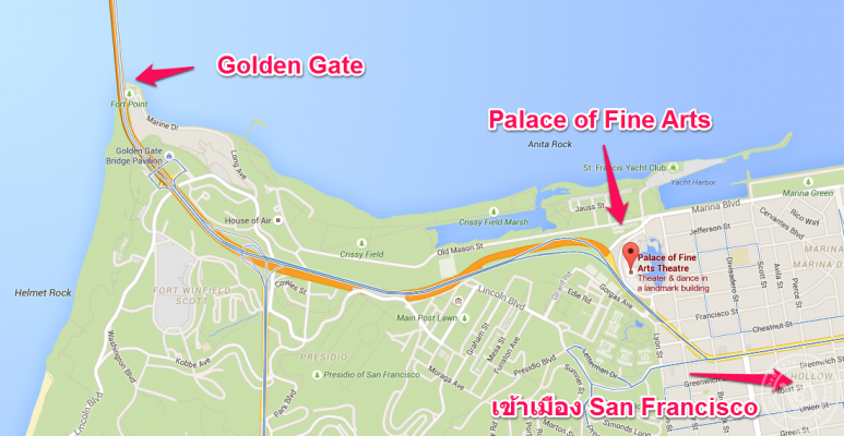 Palace of Fine Arts Map