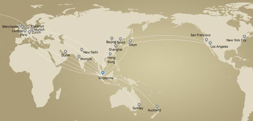 เส้นทางบินที่มีให้บริการ Premium Economy