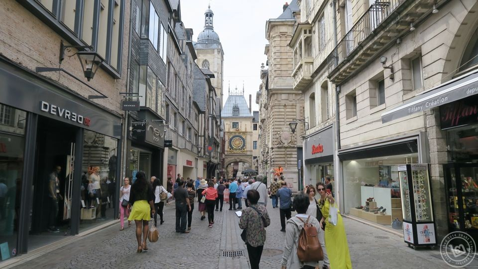 Rouen Downtown Street