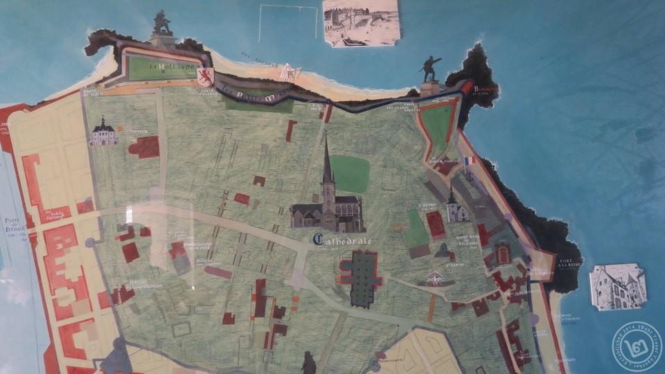 แผนที่เมือง Saint Malo