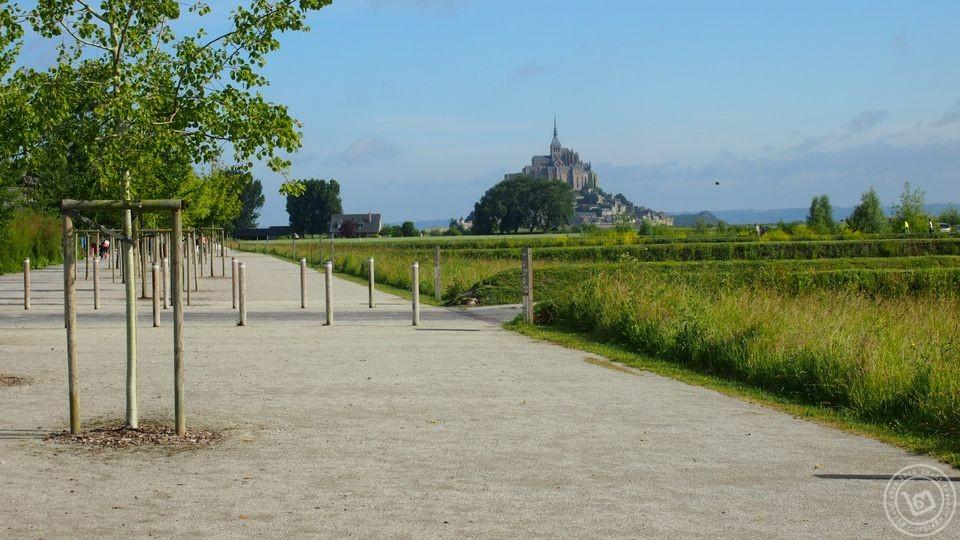 Mont Saint-Michel จากที่จอดรถ