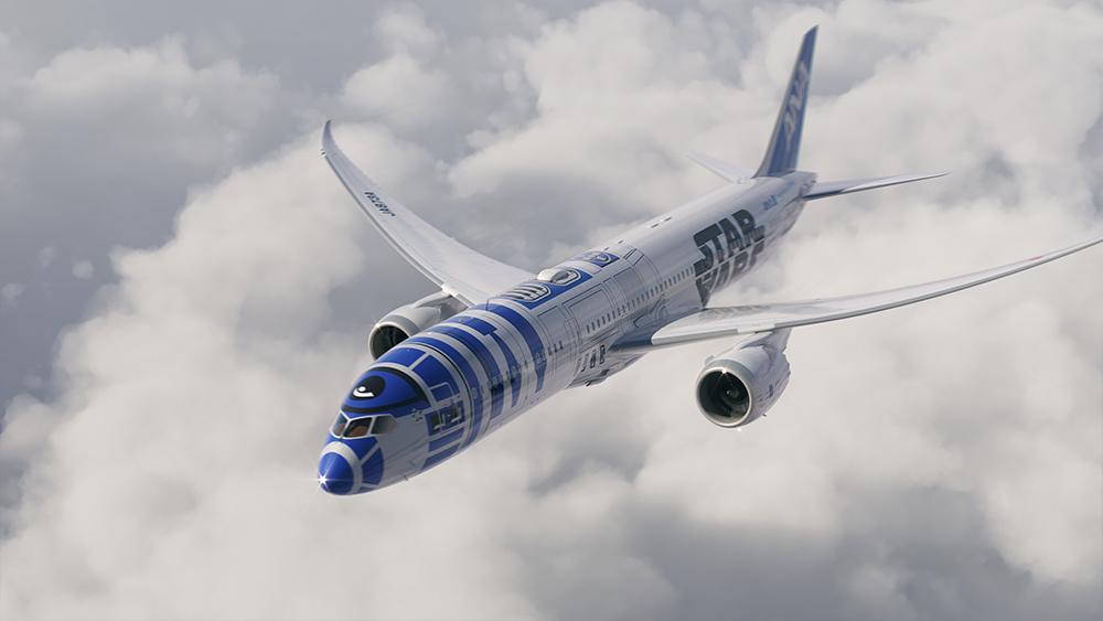 เครื่องบินลาย Star Wars R2-D2 ของ ANA