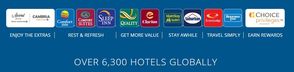 โรงแรมในเครือ Choice Hotels