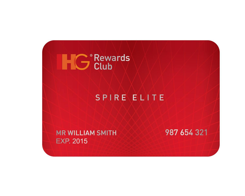 บัตรสมาชิก IHG Rewards Club แบบ Spire Elite