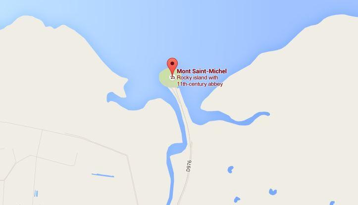 แผนที่เกาะ Mont Saint-Michel