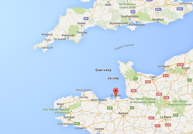 แผนที่ St. Malo