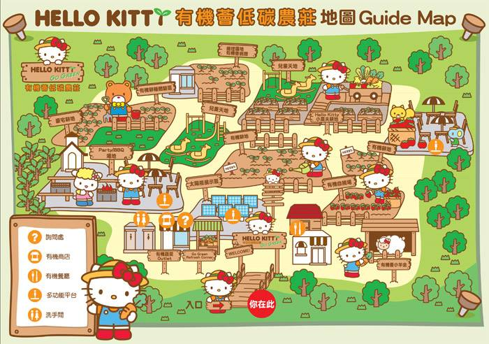Hello Kitty Farm Guide Map