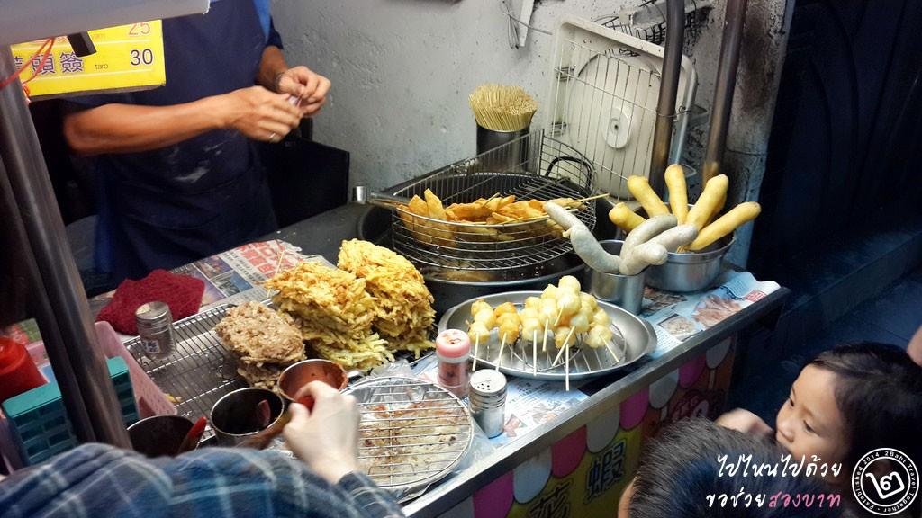 แผงขายอาหารข้างถนนในไต้หวัน