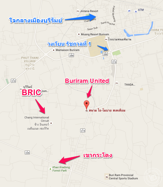 Buriram United Stadium Map