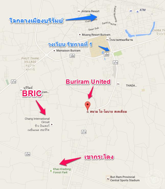 Buriram United Stadium Map
