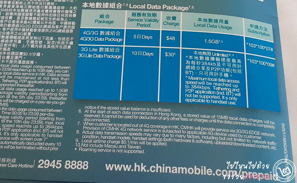 China Mobile Package