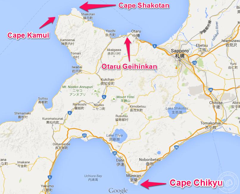 แผนที่ Hokkaido