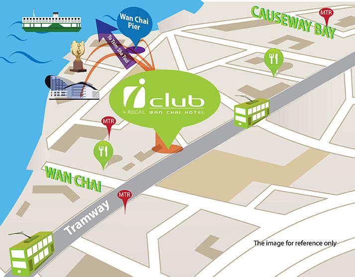 iclub Wan Chai Map