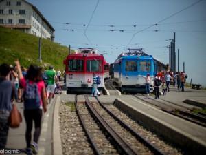 ภาพรถไฟขึ้นเขา Rigi (ภาพโดย Paolo Gamba)