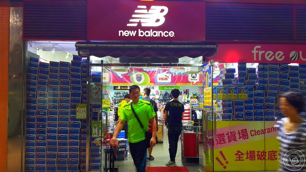 new balance Outlet ที่ตึก Camel Paint ฮ่องกง