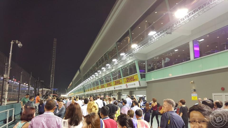 F1 Singapore Pitland Walk