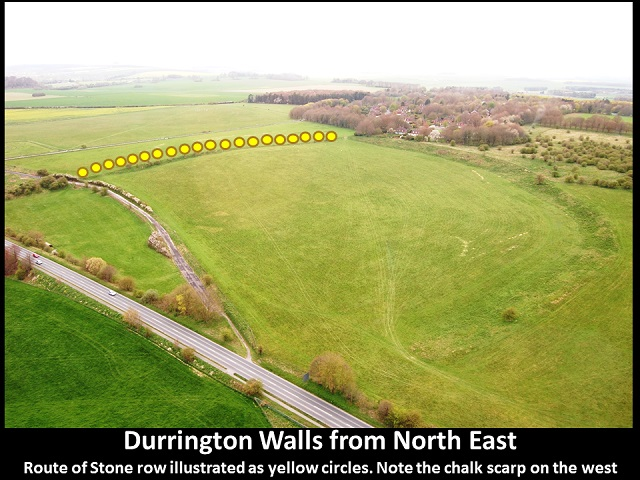 แนวกำแพง Durrington Walls (กราฟิกโดย Ludwig Boltzmann Institute)