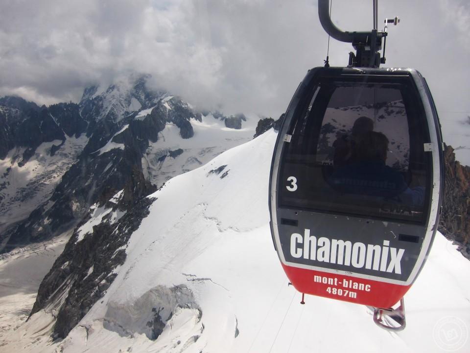 ขี้นกระเช้าชมภูเขามงต์บลังที่เมือง Chamonix