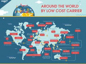 แผนที่สายการบิน low cost airlines ทั่วโลก