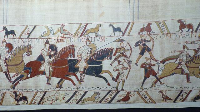 พรมปัก Bayeaux Tapestry (ภาพโดย damian entwistle / Flickr)