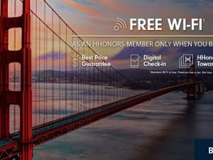 """ภาพหน้าเว็บ Hilton.com เชิญชวนให้ลูกค้า """"จองตรงดีกว่า"""""""
