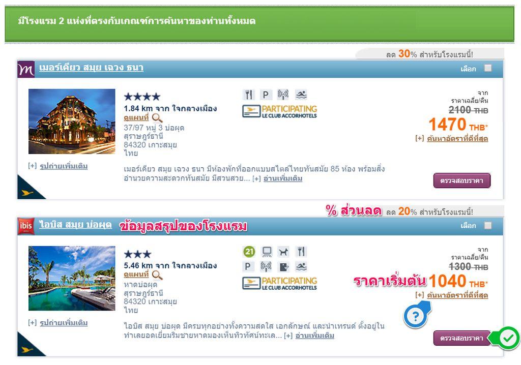 จองโรงแรมเครือ Accor ราคาประหยัด