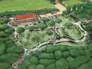 แบบสวนป่าของ Miyazaki (ภาพจาก Ryukyu Shimpo)