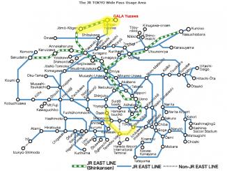 เส้นทางที่เพิ่มมาของ Tokyo Wide Area Pass2