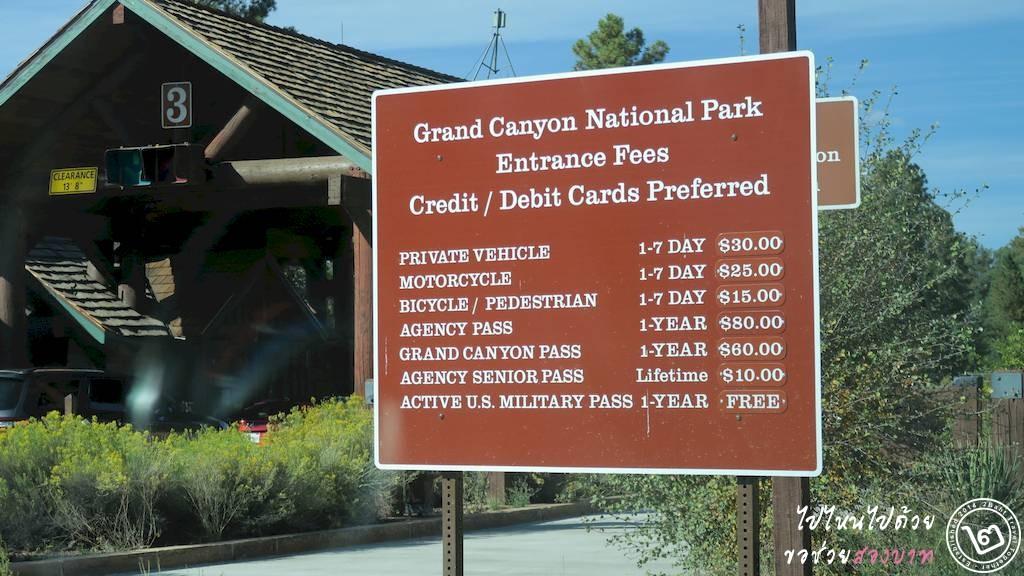 ด่านทางเข้าอุทยานแห่งชาติในสหรัฐอเมริกา