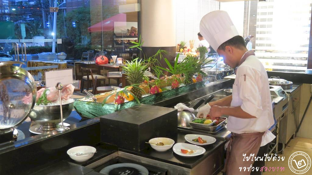 Grill buffet at Cafe de Nimes, Grand Sukhumvit Hotel Bangkok