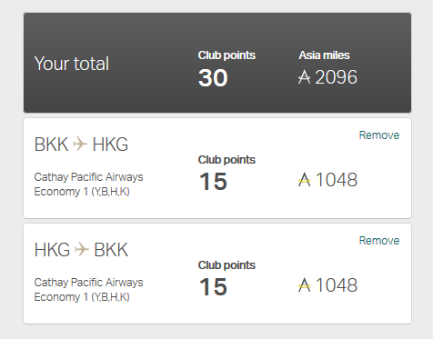 cathay new point system