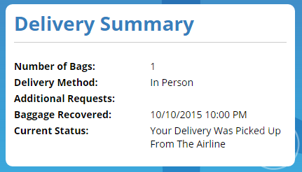 wheresmysuitcase delivery summary