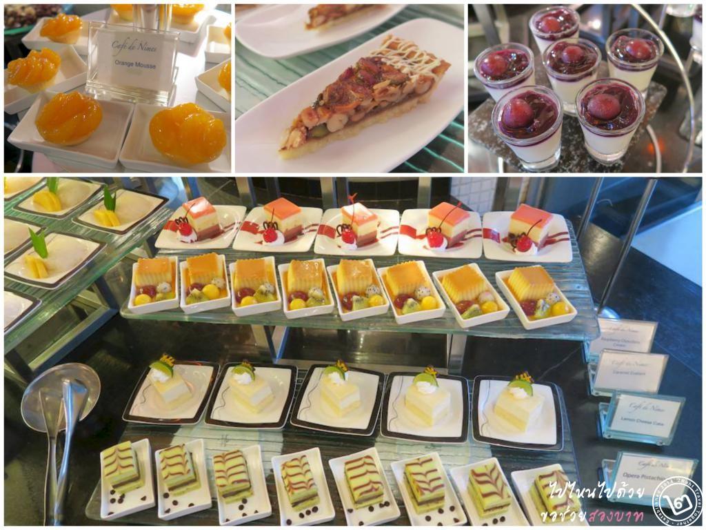 dessert buffet, Cafe de Nimes