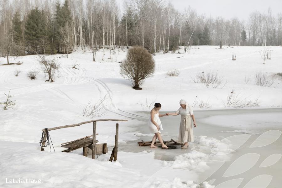 สปากลางหิมะ เอกลักษณ์ของลัตเวีย (ภาพจากการท่องเที่ยวลัตเวีย)