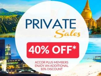 Accor Private ลดกระหน่ำท้ายปี 58 ถึง 40% สำหรับโรงแรมในเครือแอคคอร์ทั่วเอเชีย