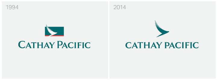 โลโก้เก่าและใหม่ของ Cathay Pacific